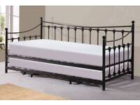 Metal Black Day Bed with trundle pop up bed free delivery