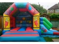 Bouncy castle with side slide