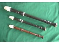 TWO AULOS RECORDERS + A.N.OTHER + CASES + MUSIC GOOD STARTER PACK!
