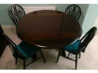Dining Table & Four Windsor Chairs