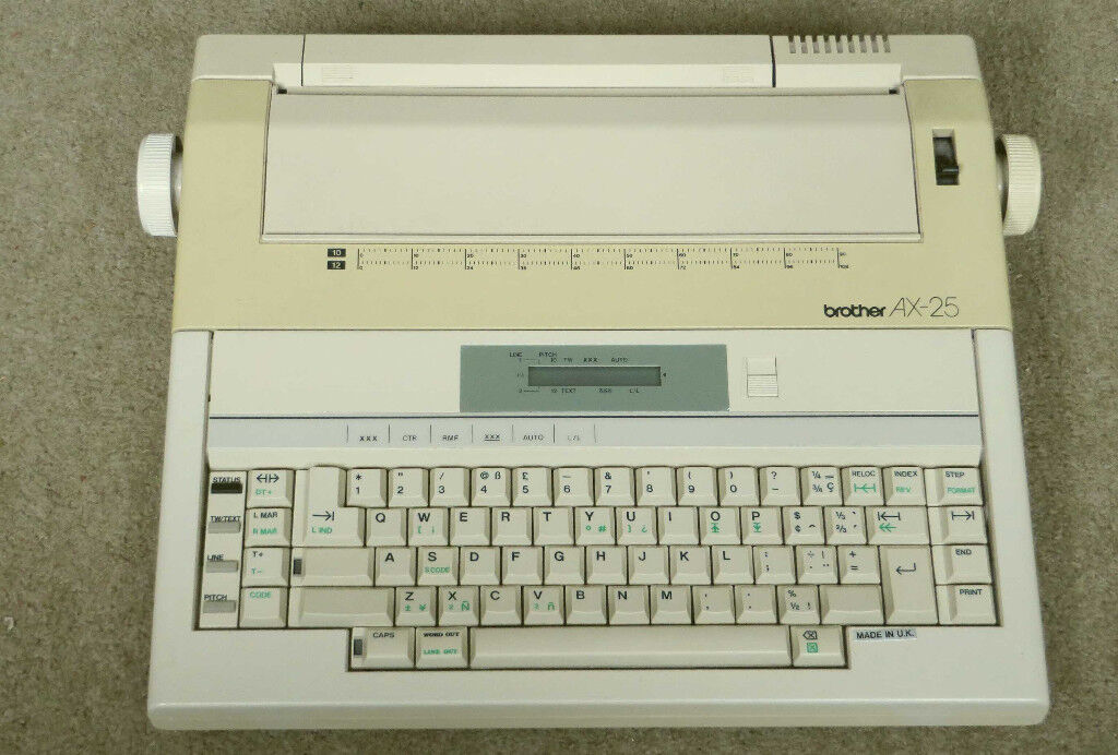Brother AX25 daisy-wheel printer, not working. FREE for spares or repair.