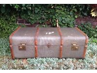 Bentwood Banded Steamer Trunk