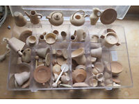 Dolls House accessories..charming wooden pots, pans, cups and more