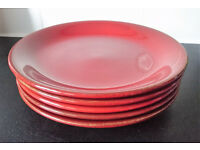 Brand new set of starter plates - red