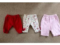 3 pairs newborn trousers