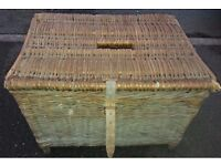 Vintage fishing basket/creel for sale in beautiful patinated condition