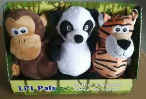 NEW LIL PALS PLUSH PET TOY 3 PACK DOG FUN CHEW TOY LP3PC