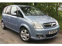 Vauxhall Meriva MPV 1.6 i 16v Design 5dr Air Con Model High Specification TWIN ELECTRIC SUNROOFS