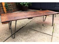 Wooden table - low level