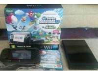 Boxed Nintendo Wii U 32gb console + Super Mario Bros + Luigi games