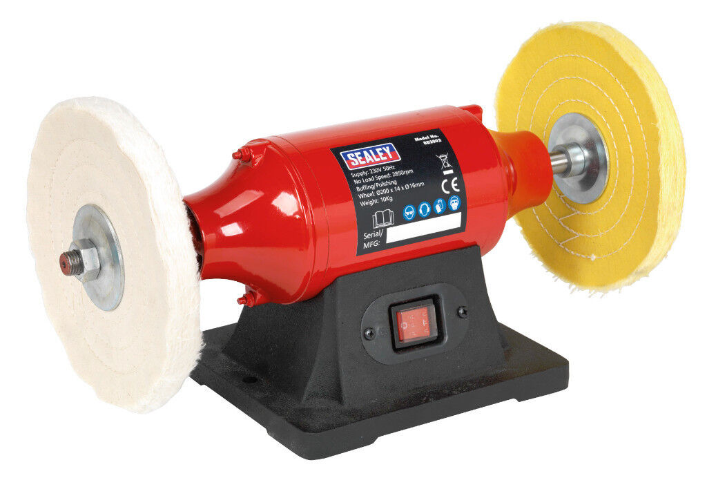 Sealey BB2002 Bench Mounting Metal Buffer/Polisher/Polishing 200mm - 550W/230V
