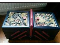 Beautiful wooden sewing box