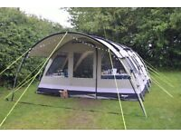 Outwell Bear lake 6 canvas tent with Extension, groundsheet (Footprint) and carpet. Bearlake 6