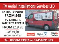 Same day Satellite & tv aerial repairs from £19.95