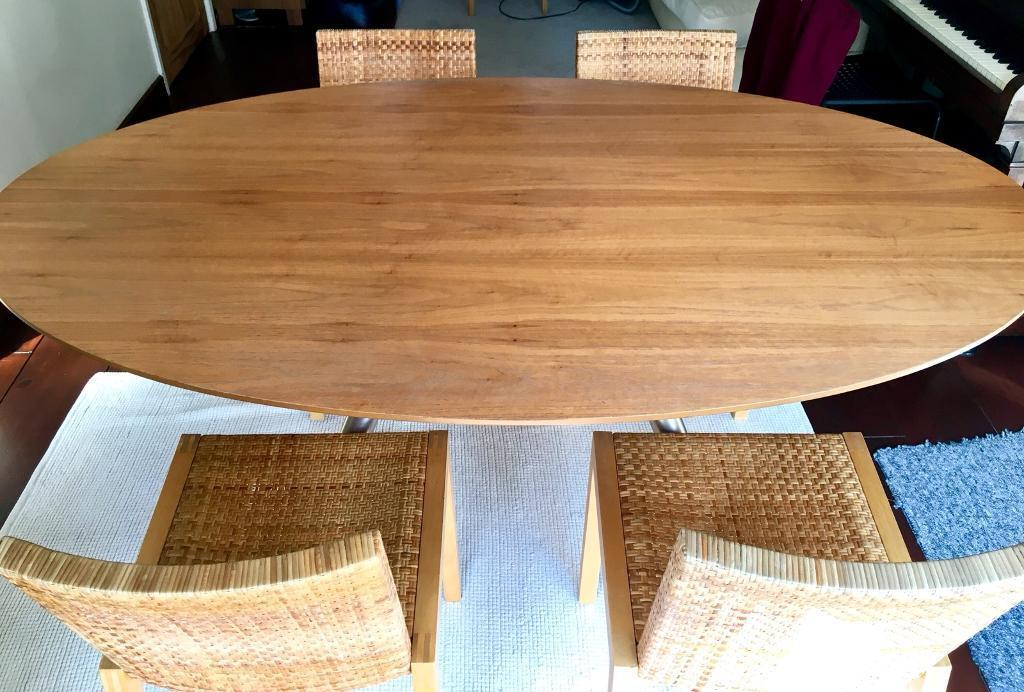 Urgent New Solid Wood Dining Table Matching Four Chairs Detachable Legs