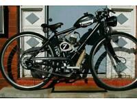 CUSTOM BUILT MOTORISED BIKE , CAFE RACER STYLE 49CC