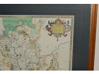Vintage Framed Map of Shropshire - excellent condition