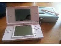 Pink Nintendo DS Lite with stylus and hard case