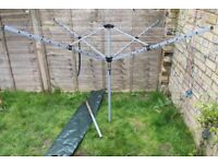 Great 4 Arm Rotary Airer With Cover and Ground Spike