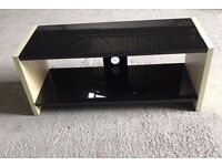 Black Glass & Wood TV Stand Only £15