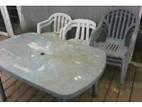 FREE Green plastic garden table & chairs