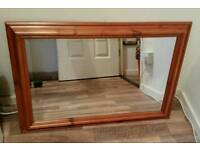 Quality pine framed mirror only £8
