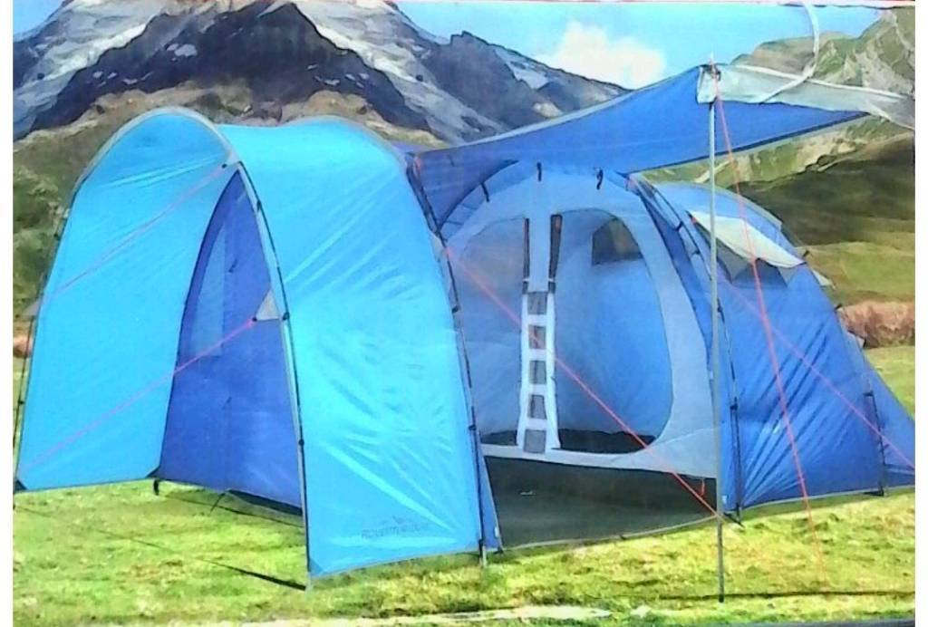 size 40 53822 fa25d Adventuridge 5 Man tent camping blue used once | in Newport | Gumtree