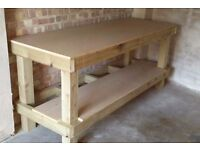Handmade Wooden Workbench
