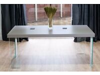 Danetti Modern Grey Oak & Glass Dining Table *** New in Box (last one) ***