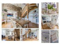 Detached Period 5 bedroom house large garages workshops outbuildings suit mechanic home business