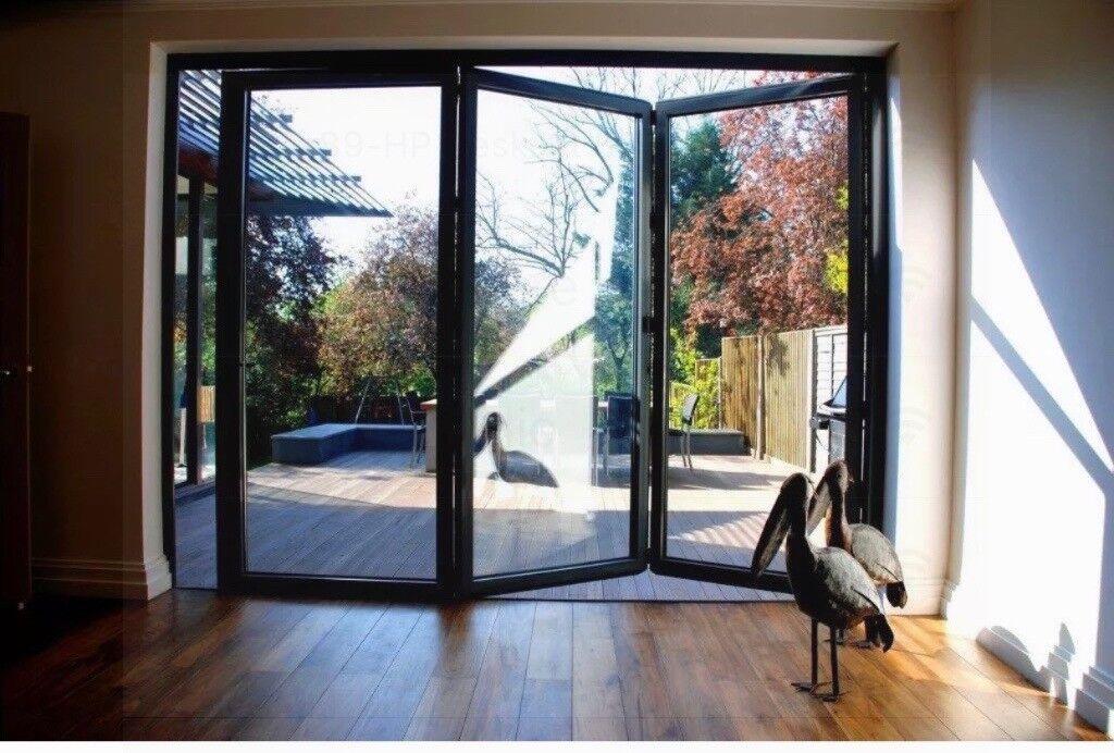 New, Quality Aluminuim Bi fold Patio Doors inc Glass 3 panels. 2100mm x 2400mm £1390