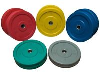 150KG RIOT OLYMPIC BUMPER PLATE SET COLOURED