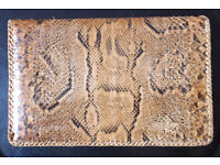 Rare Genuine Vintage Boa Snake Skin Mans Wallet, Leather Interior.
