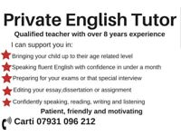 Private Female English Tutor Home Tuition ESOL GCSE SATS Homeschooling Leyton