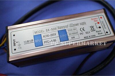 50w Watt High Power Led Driver Ac90v-265v 50-60hz Waterproof