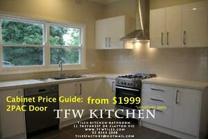 Kitchen Cabinets+ Gloss White Door+Kickboard Clayton Monash Area Preview