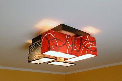 Focos de Techo Lámpara Top Diseño Negro - Rojo