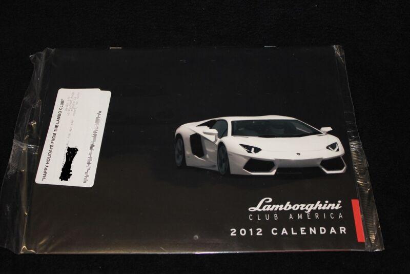 LAMBORGHINI CLUB OF AMERICA CALENDAR FROM 2012, GREAT PICS STILL IN PLASTIC NEW