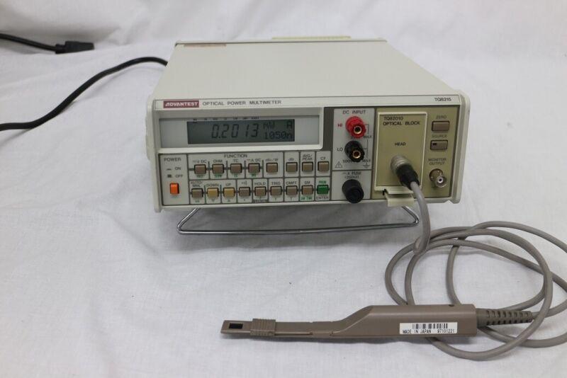 ADVANTEST TQ8215 82010 82017 Optical Power Meter