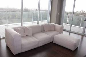 3 seater sofa and ottoman Eastwood Burnside Area Preview