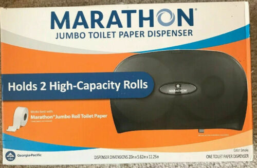 GEORGIA PACIFIC/MARATHON JUMBO BATH TISSUE DISPENSER (SMOKE COLOR)