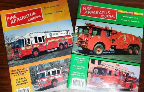 Fire Apparatus Journal Lot of 2 March- April 1997 March-April 2019 NEW