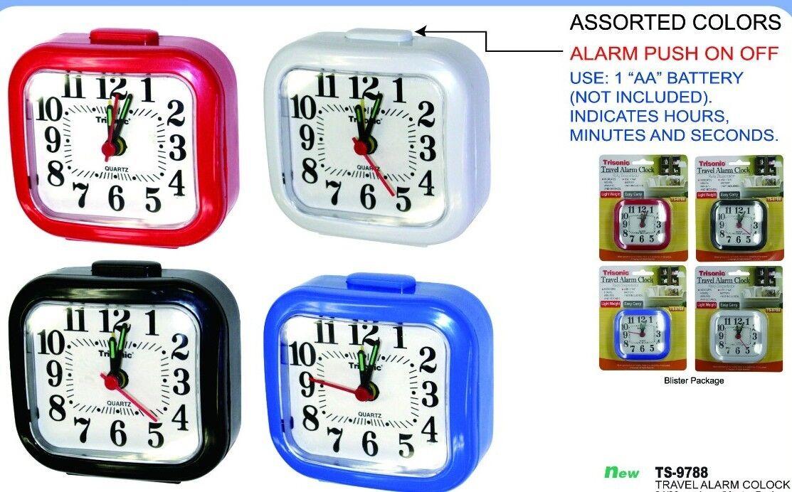 Travel home  alarm clock 3 x 3 new