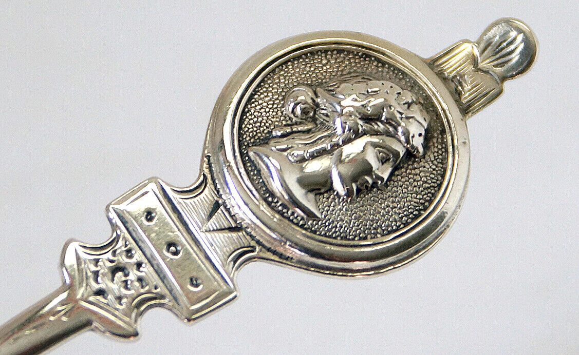 Beautiful piersed Coin Silver Pastry Fork in Medallion pattern hand engraved