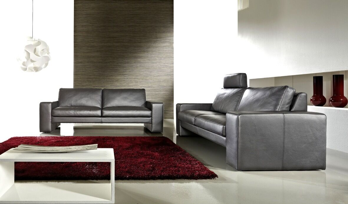 leder sofa garnitur couch 3 sitzer 2 sitzer wohnlandschaft voll leder neu eur. Black Bedroom Furniture Sets. Home Design Ideas