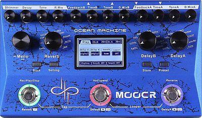 Mooer Ocean Machine Dual Delay/Reverb/Looper Guitar Pedal True Bypass NEW