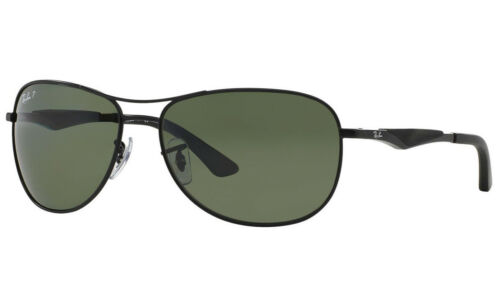 Ray-Ban RB3519 Polarized Sunglasses (Black/Polarized Green Classic G-15)
