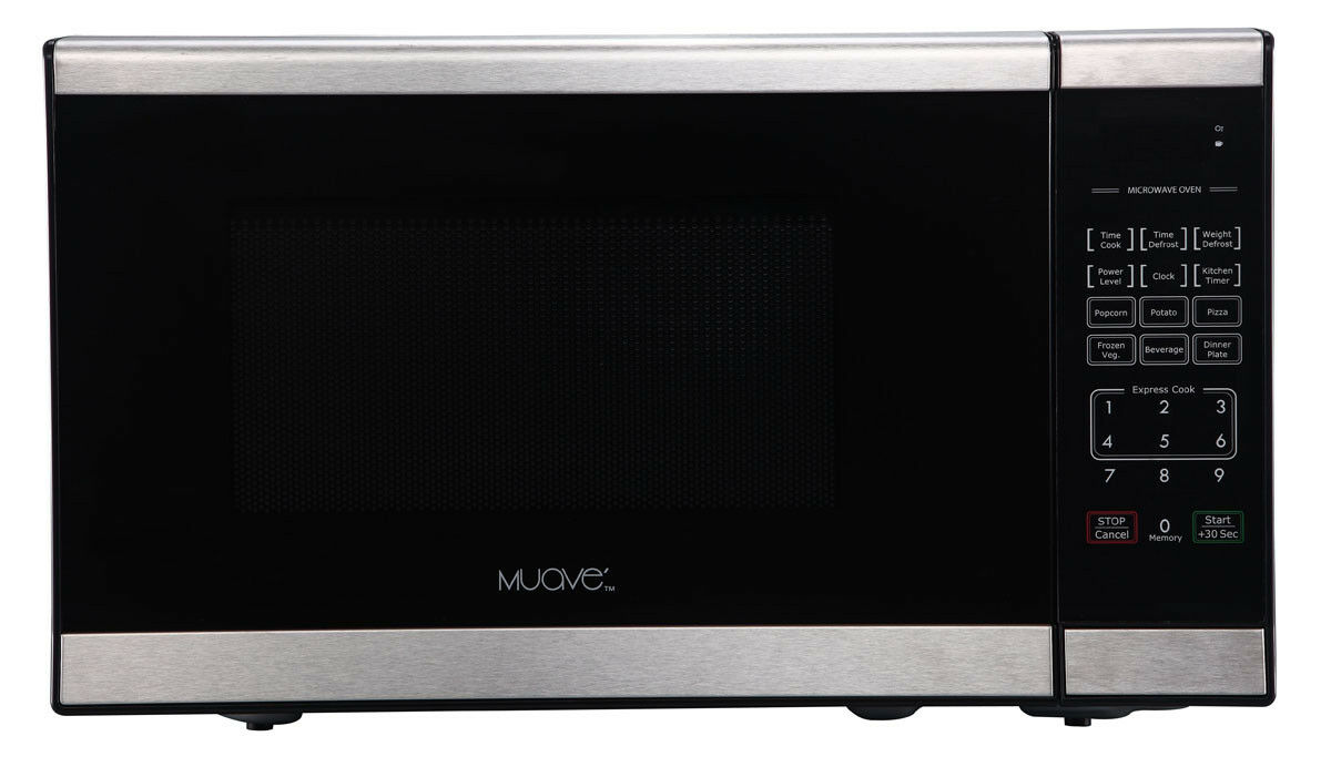 Muave' Compact  Home Microwave Oven 0.7 Cu. Ft, 120v Stainle