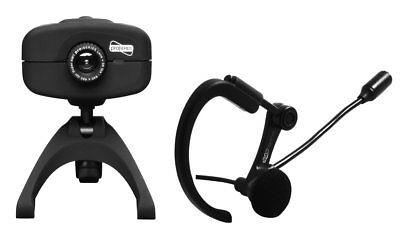 Brooklyn Headset & Webcam SPRO 5010 Kopfhörer mit Mikrofon f. Internettelefonie