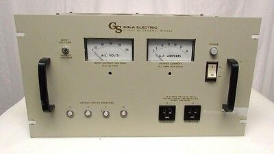 Sola General Signal Constant Voltage Transformer 93-13-220 Used Working